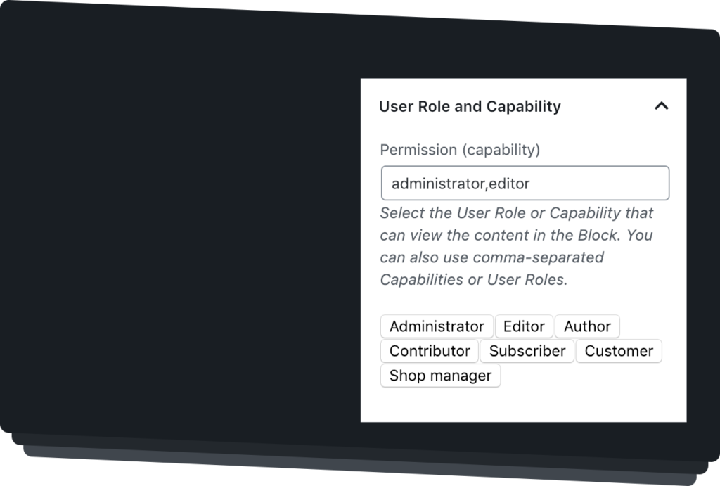 User Role and Capability Settings